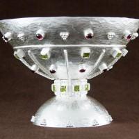 Coppa in argento in stile longobardo