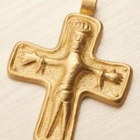 Riproduzione in oro di Crocifisso vichingo